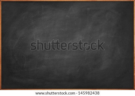 Scratched blackboard copy space - stock photo