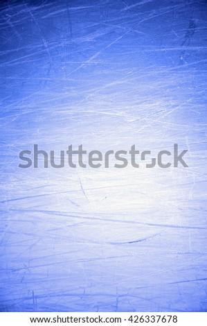 scratched blue background - stock photo