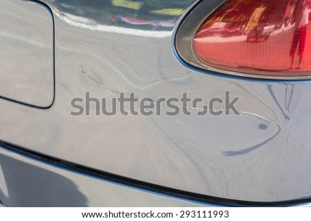 Scratched car paint from accident