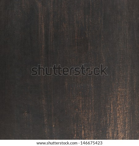 Scratched dark old leather texture as a background
