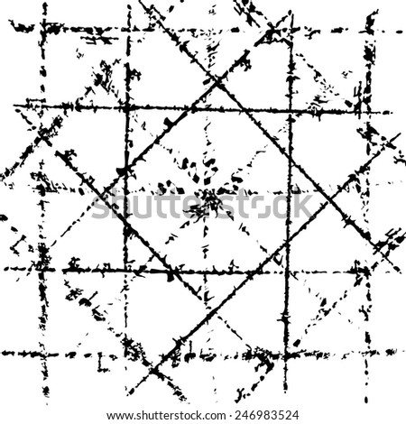 Scratched grid overlay texture.  - stock photo