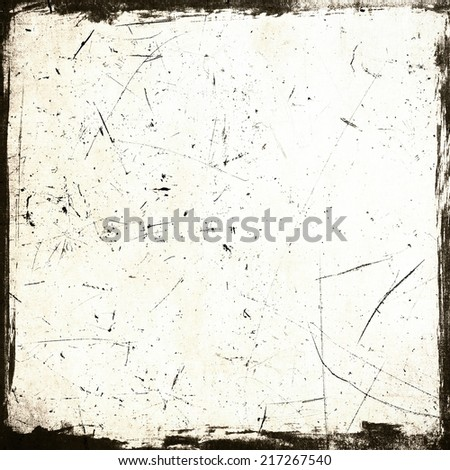 Scratched grunge frame - stock photo