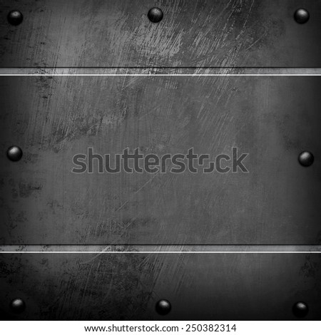 scratched metal template - stock photo