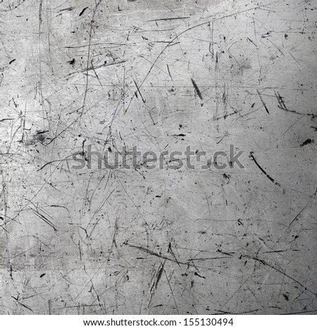 Scratched metal texture - stock photo