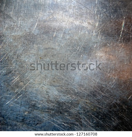 scratched metal texture ;  grunge background - stock photo
