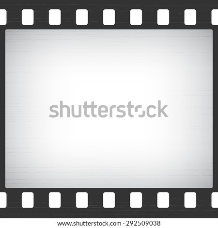 Scratched Old Film Stripe Frame abstract background - stock photo
