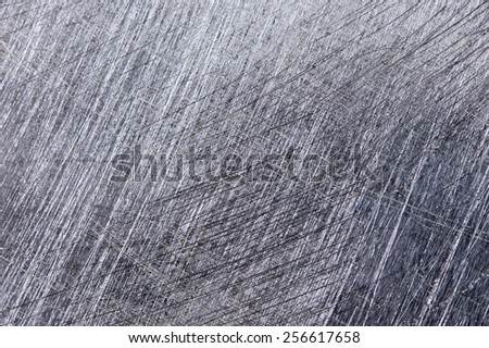 Scratches on the metal background. - stock photo