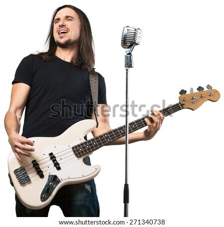 Scream. Musician - stock photo