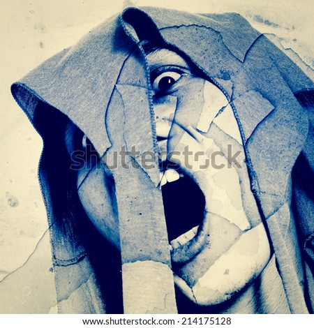 Scream of The Death,Horror Background For Movies Poster Project  - stock photo