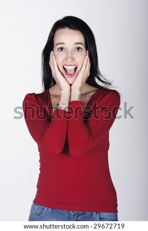 screaming - stock photo