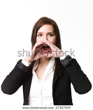 Screaming girl - stock photo