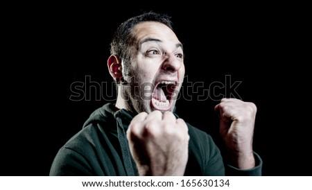 screaming goal - stock photo
