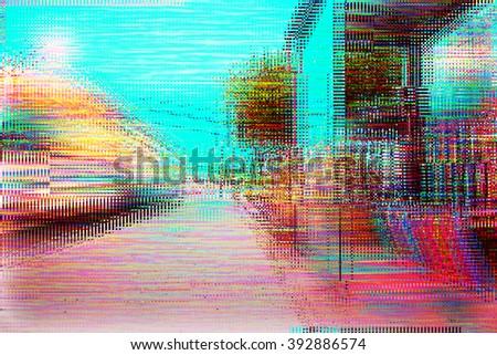 Screen Glitch Texture - stock photo