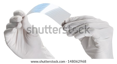 Screen of graphene application with binary numbers.  Graphene application - stock photo