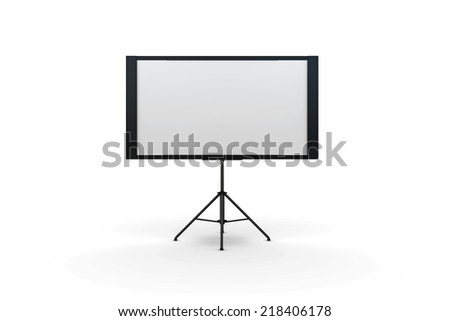 screen projector isolated on white background