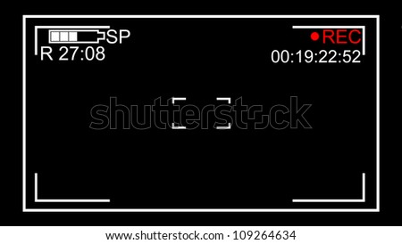 screen Video on a black background - stock photo