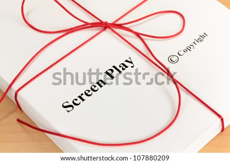 Screenplay Manuscript by Author ready for Proofreading Closeup