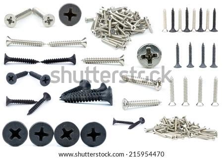 screw in white back - stock photo