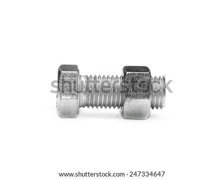 screw isolated on the white backgrounds