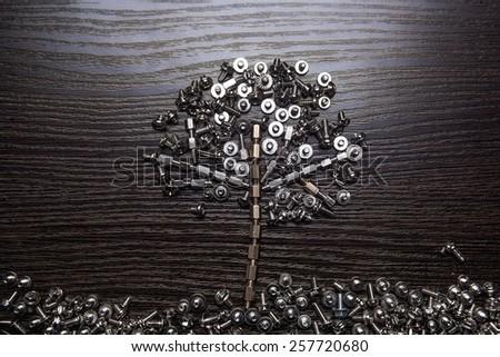 Screw tree - stock photo