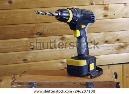 Screwdriver. Cordless Drill - stock photo