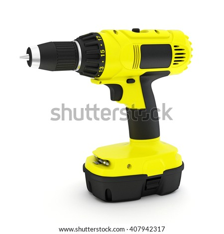 Screwdriver isolated on white background 3d render