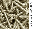 screws background - stock photo