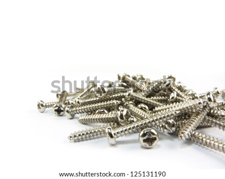 Screws on a white background - stock photo
