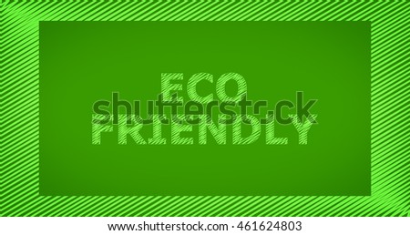 Scribble text on green background - ECO FRIENDLY