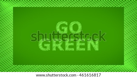 Scribble text on green background - GO GREEN