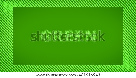 Scribble text on green background - GREEN