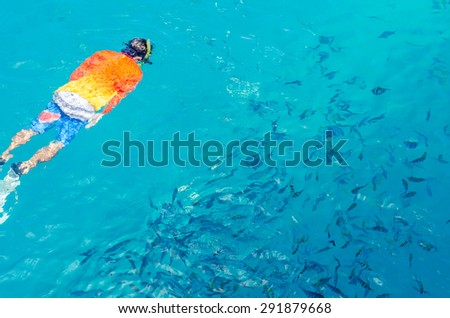 Scuba Diving Clearwater - stock photo