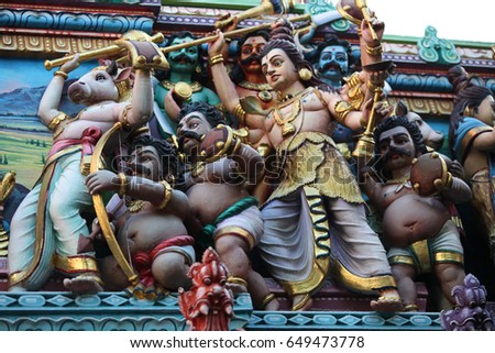 Sculpture, architecture and symbols of Hinduism and Buddhism, Singapore, Southeast Asia