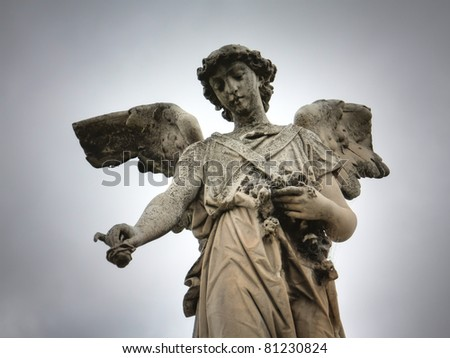 Sculpture at a Melbourne cemetery - stock photo