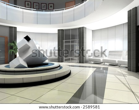 Sculpture in a hall of hotel - stock photo