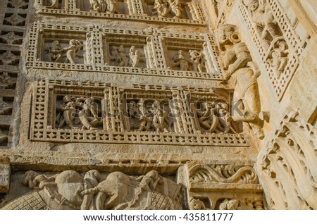 sculpture in temple fort Chittor
