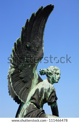 Sculpture of Angel in the Sanssouci Park. Potsdam, Germany