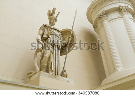 Sculpture of Athena in the Pushkin Museum. - stock photo