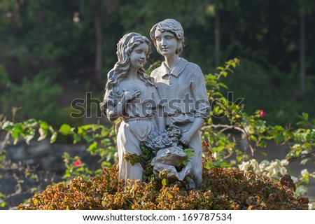 Sculpture of Lovers - stock photo