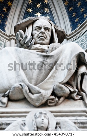 Sculpture on the Duomo cathedral, Florence, Italy