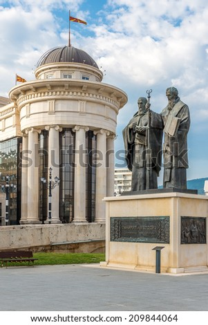 Sculpture Ss. Cyril and Methodius in Skopje