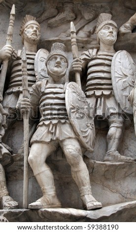 Sculptures of Roman Soldiers