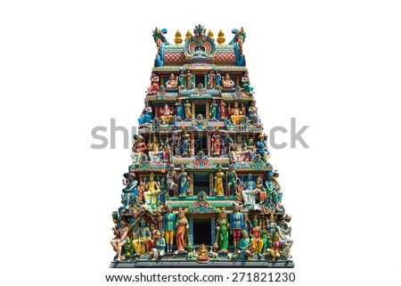 Sculptures on Hindu temple