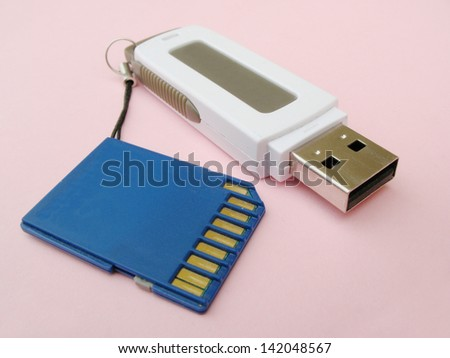 SD card and USB stick