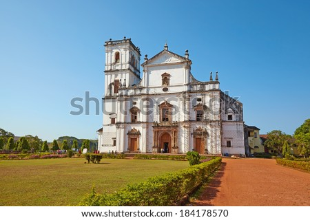 Se Cathedral. Old Goa, India. - stock photo