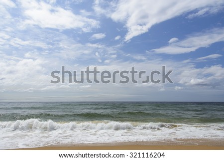 Sea after the storm .  - stock photo