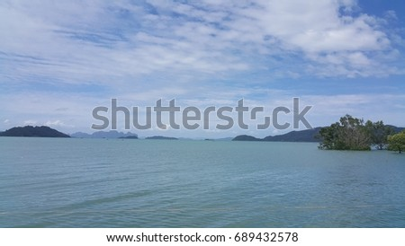 sea and blue sky texture - background