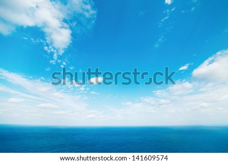 sea and clear sky - stock photo