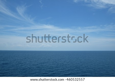 Sea and clear sky