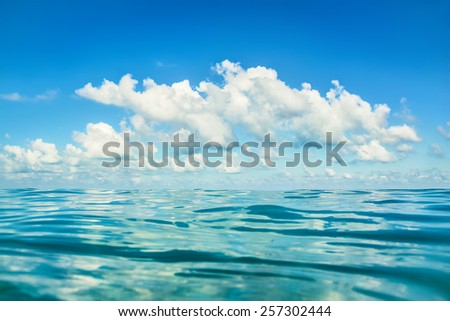 sea and clouds - stock photo